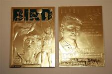 LARRY BIRD 23KT Gold Card Sculpted 1997 Limited NM-MT Boston Celtics * BOGO *