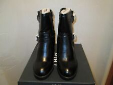 CHAPS DENA BLACK STACK HEEL ANKLE BOOTS WOMENS SHOES SZ:8 B