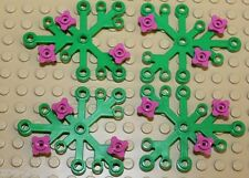 Lego 4x Bright Green Plant Leave with Pink Flowers NEW!!!