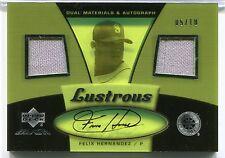 2007 FELIX HERNANDEZ UD Black LUSTROUS Signature Autograph 2x GAME JERSEY #05/10
