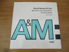 "World Series Of Life – Spread Love (Remixes) Vinyl 12"" 33RPM UK 92 House AMY 859"