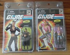 2011 SDCC COMIC CON EXCLUSIVE GI JOE ZARANA PINK & COLD SLITHER SET MINT LOOK