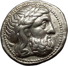 Celtic Eastern Europe Silver Tetradrachm as Greek Philip II Macedon Coin i54000