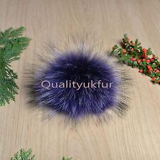 Genuine Real Raccoon Fur multicolour PomPom for Hat keyring M,L,XL,2XL,3XL