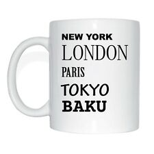 New York, Londres, Paris, Tokyo, CARINDALE Tasse à café