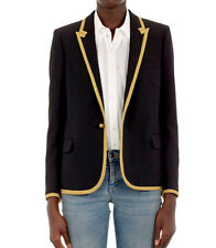 Prix final: saint laurent SS15 2500 £ gold braid trim blazer jacket FR34/UK6
