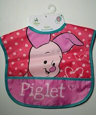 Disney Baby Bib Piglet Newborn Girls Toddler Waterproof • Winnie the Pooh