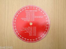 VESPA ENGINE - IGNITION TIMING DISC. TOP QUALITY. ALLOY. RED. BRAND NEW