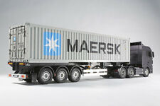 Tamiya 1/14th Scale 40-Ft Maersk Container Semi-Trailer Kit MIB/New 56326
