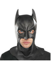 Adult Batman Full Mask LICENSED Fancy Dress DC Comics Dark Knight Accessory BN