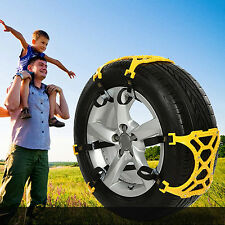 Car SUV Motorcycle Rubber Winter Tire Tyre Wheels Snow Chains Anti-Skid Nonslip.