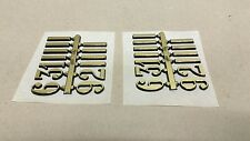 """3/4"""" Self-Adhesive Combo Arabic Clock Numbers & Bars NEW 2 SETS Hot stamped"""