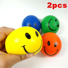 2Pcs Smiley Face Anti Stress Reliever Ball Stressball ADHD Autism Mood Squeeze