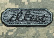 ILLEST TAB US ARMY USA MILITARY ILL ISAF TACTICAL VELCRO ACU DARK MORALE PATCH