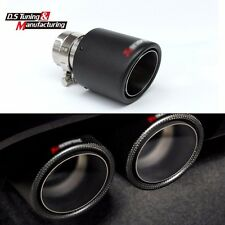 Akrapovic Style Carbon Exhaust Muffler Pipe 63-101mm Universal Tips for Car Auto