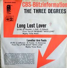 """7"""" 1975 CBS BLITZ VG+ ! THREE DEGREES : Long Lost Lover"""