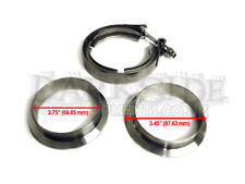 "2.75"" Exhaust Stainless Universal V-Band Clamp and Flange Kit VBand / V Band"