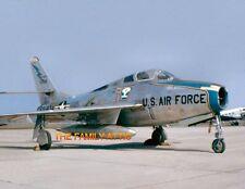 F-84F THUNDERSTREAK 8x11 PHOTO US AIR FORCE PLANE TARMAC HAHN AFB  GERMANY 1957