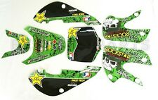 ROCKSTAR METAL MULISHA GRAPHICS DECAL KIT KAWASAKI KLX110 KLX 110 KX 65 NEW Z262