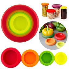 4Pieces Flexible Silicone Fruit Vegetable Food Huggers Storage Cover Storage