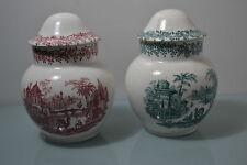 Pareja de Tibor La Cartuja de Sevilla Pickman Porcelana
