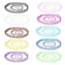 30PC Choker Stretch Gothic Tattoo Henna Necklaces Choker Necklace Lot of 30