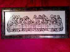 Last Supper of Jesus Christ embroidery 110x51cm FINISHED FRAMED CROSS STITCH