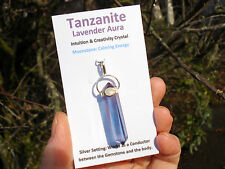 Tanzanite Lavender Aura+Moonstone Double Terminated Point Pendant