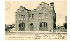 Patchogue LI NY - FIRE DEPARTMENT BUILDING - Postcard
