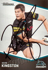 Signed 2014 PENRITH PANTHERS NRL Card KEVIN KINGSTON