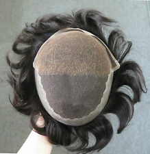 Best Quality!Virgin Hair Toupee Hair Replacement Hairpiece for Men French Lace