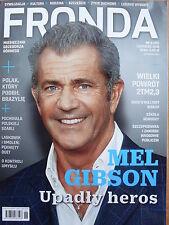 MEL GIBSON on front cover Polish Magazine FRONDA 6/2015 in.Wlodek Pawlik