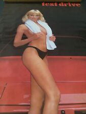 1986 Test Drive sexy blonde sitting on Porsche  new vintage wall poster PBX128