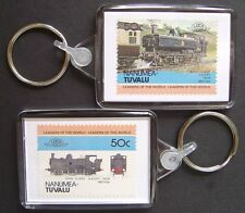 1929 GWR 5700 Class 57xx 0-6-0 Pannier Tank Train Stamp Keyring (Loco 100)