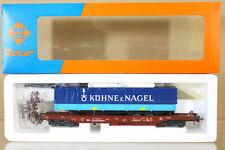 ROCO 44311C FS KUHNE & NAGEL Taschenwagen TRUCK TRAILER TRANSPORT WAGON 427-9 ni