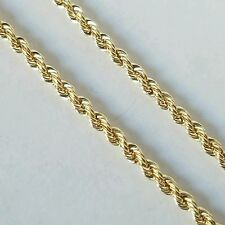 10k yellow gold unisex rope chain 18 inches long 2 mm