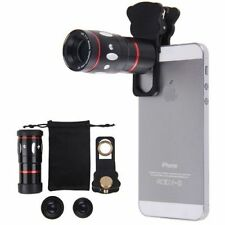 4in1 10x Zoom Telephoto Fish Eye + Wide Angle + Micro Clip Lens For iPhone 6S 6