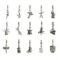Sterling Silver 925 Dangle Charms Clip On Charm 43 types!!! Charm Bracelets