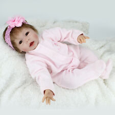 "22"" Reborn Baby Doll Lifelike Girl Vinyl Baby Toy Cute Reborn Bebe Toddler"