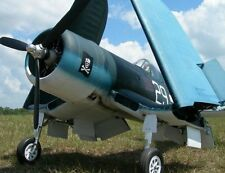 """1/4 Scale F4U Corsair  93"""" Giant Scale RC AIrplane Printed Plans & Templates"""