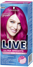 2 X Schwarzkopf Live Semi Permanent Colour Ultra Brights/Pastel 93 SHOCKING PINK