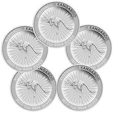 2017-P Australia $1 1 Troy oz. .9999 Silver Kangaroo - Lot of 5 Coins SKU43580