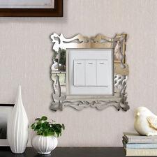 4x Wandtattoo Wandaufkleber Lichtschalter Schaltertattoo Spiegel Blume Mirror oG