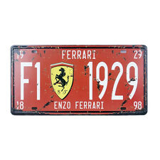 Decorative Novelty License Plate Tin Sign - Ferrari