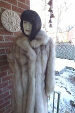 women's Norwegian Blue Fox Full length Fur coat sz. 8 Full pelts