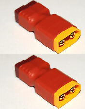 2X XT60 Male to T Plug Deans Style Female Lipo Adapters No Wire-Strong & Compact