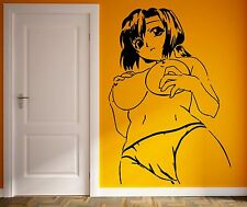 Wall Vinyl Sticker Decal Beautiful Naked Woman Anime Manga Sexy Hot Girl (M001)