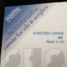 Blank Canvas A3, 1.5cmm deep - Stretched artis Canvas by Seawhite, made in UK