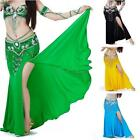 Sexy Professional Belly Dance Costume with slit Modal Cotton Skirt Dress 7 color