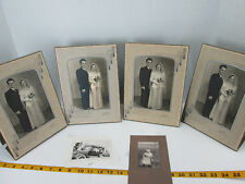 Lot of Vintage Wedding Photos with One Baby & One Car Black & White Marriage T